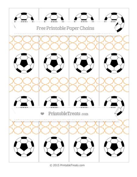 Free Pastel Light Orange Quatrefoil Pattern Soccer Paper Chains