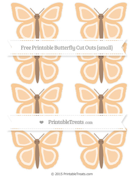 Free Pastel Light Orange Small Butterfly Cut Outs