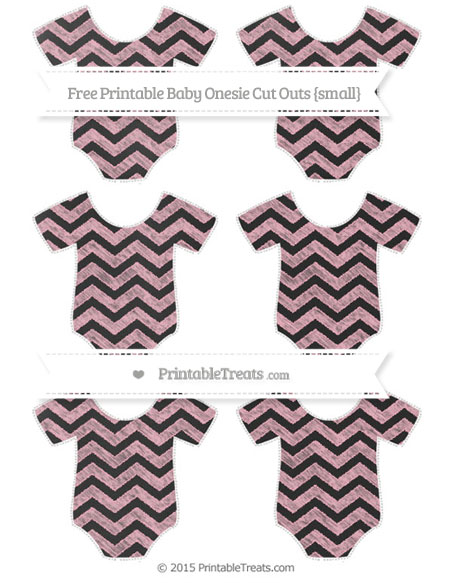 Free Pastel Light Pink Chevron Chalk Style Small Baby Onesie Cut Outs