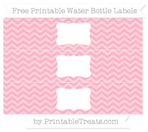 Free Pastel Light Pink Chevron Water Bottle Labels