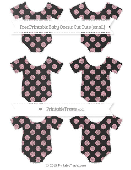 Free Pastel Light Pink Dotted Pattern Chalk Style Small Baby Onesie Cut Outs