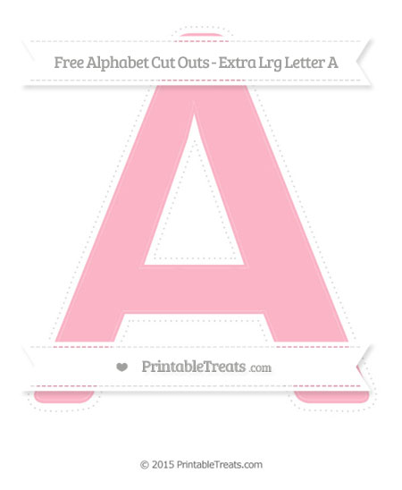 Free Pastel Light Pink Extra Large Capital Letter A Cut Outs