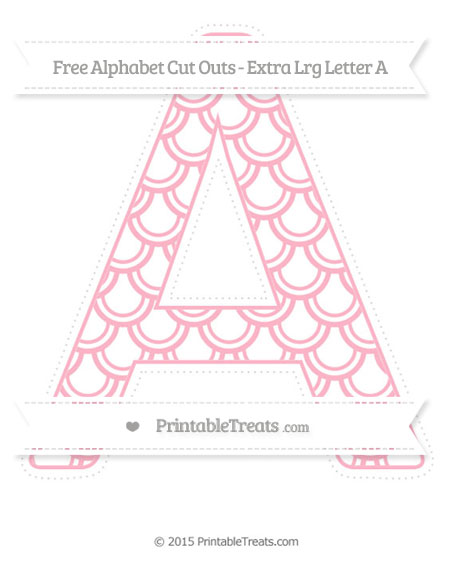 Free Pastel Light Pink Fish Scale Pattern Extra Large Capital Letter A Cut Outs