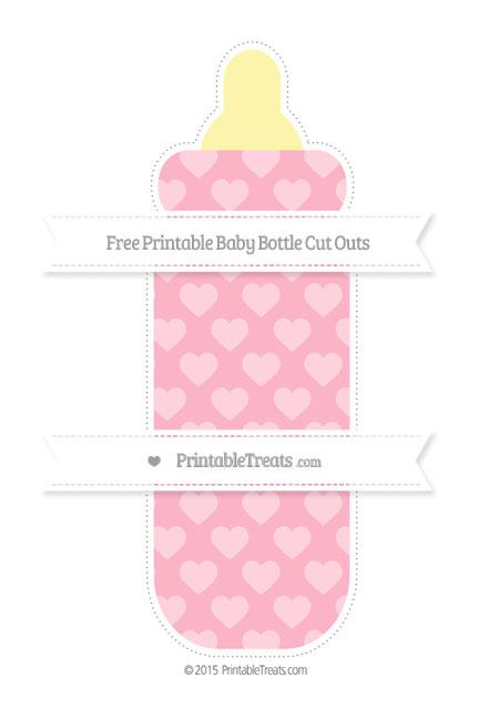 Pastel Light Pink Heart Pattern Extra Large Baby Bottle ...