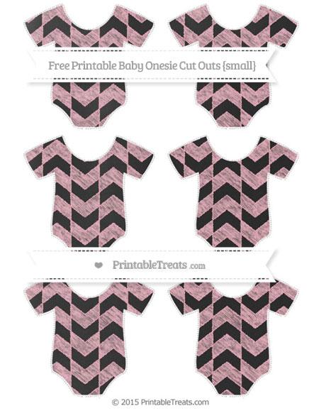 Free Pastel Light Pink Herringbone Pattern Chalk Style Small Baby Onesie Cut Outs