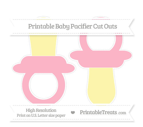 Free Pastel Light Pink Large Baby Pacifier Cut Outs