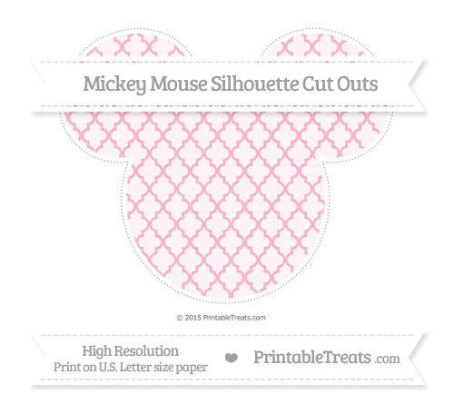 Free Pastel Light Pink Moroccan Tile Extra Large Mickey Mouse Silhouette Cut Outs