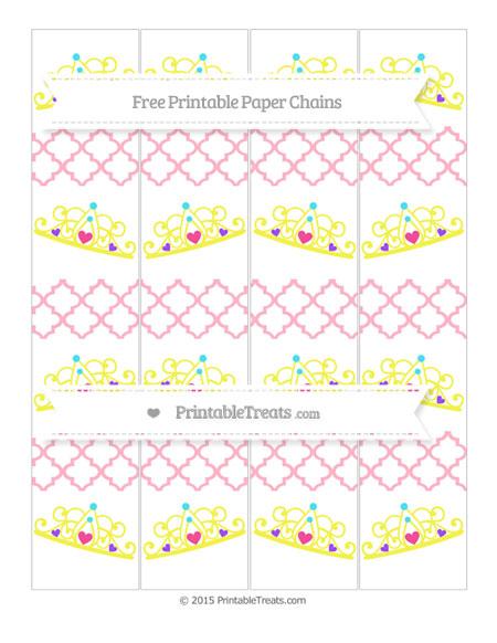 Free Pastel Light Pink Moroccan Tile Princess Tiara Paper Chains