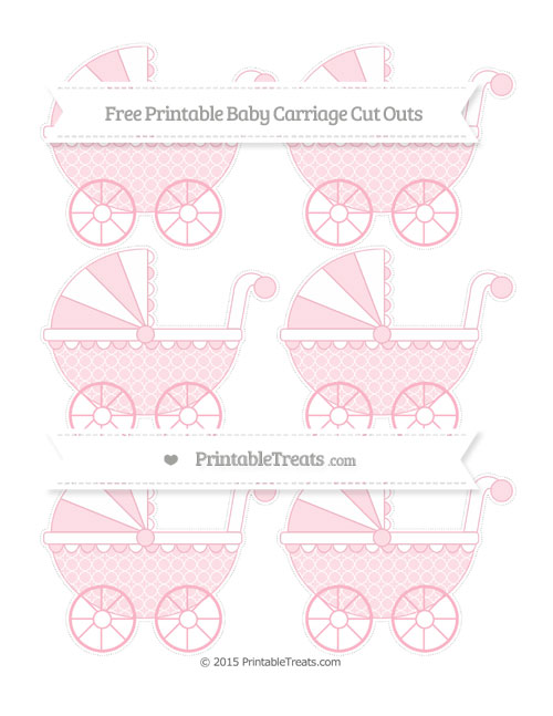 Free Pastel Light Pink Quatrefoil Pattern Small Baby Carriage Cut Outs
