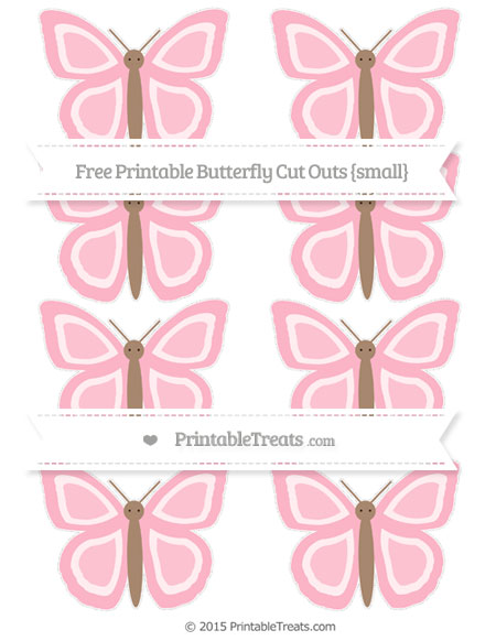 Free Pastel Light Pink Small Butterfly Cut Outs