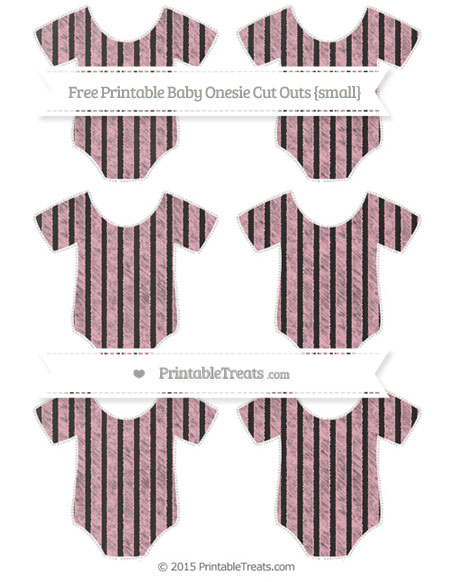 Free Pastel Light Pink Thin Striped Pattern Chalk Style Small Baby Onesie Cut Outs