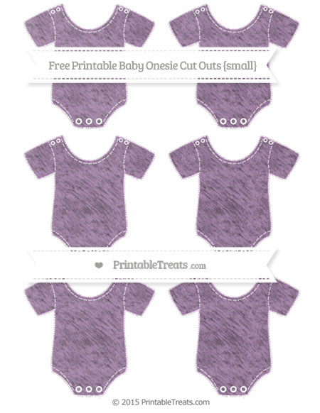 Free Pastel Light Plum Chalk Style Small Baby Onesie Cut Outs