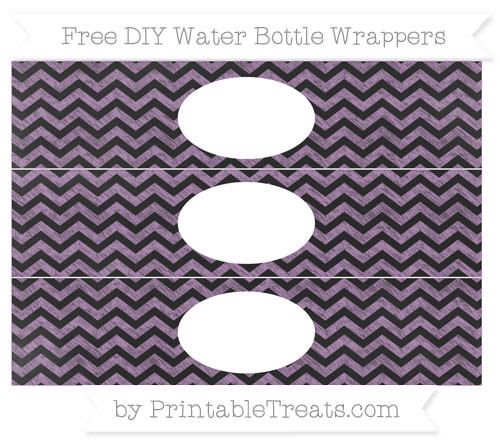 Free Pastel Light Plum Chevron Chalk Style DIY Water Bottle Wrappers