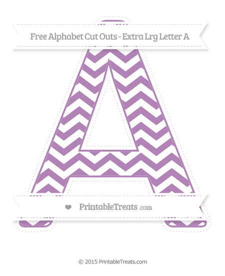 Free Pastel Light Plum Chevron Extra Large Capital Letter A Cut Outs