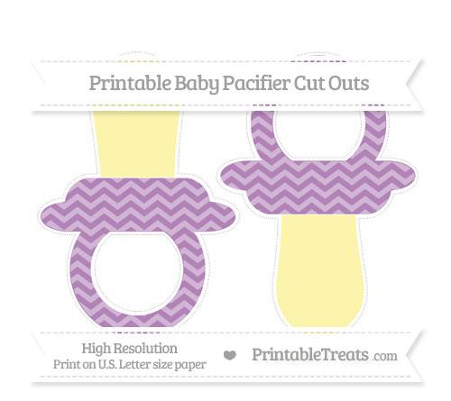 Free Pastel Light Plum Chevron Large Baby Pacifier Cut Outs