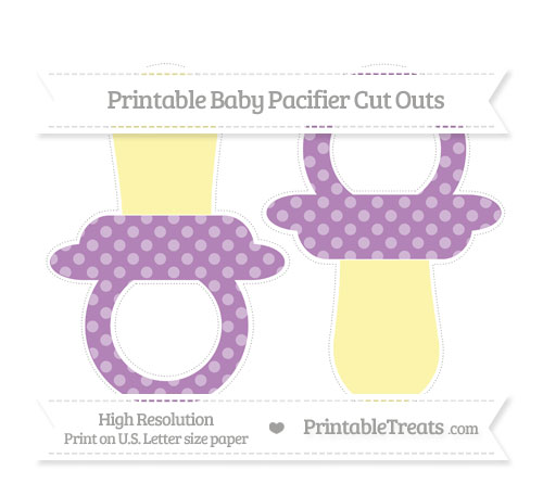Free Pastel Light Plum Dotted Pattern Large Baby Pacifier Cut Outs