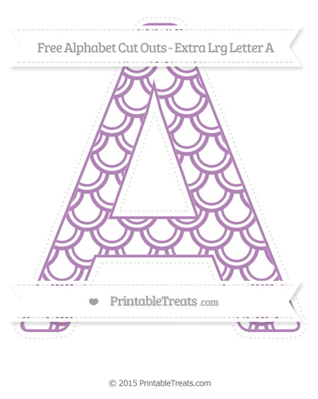Free Pastel Light Plum Fish Scale Pattern Extra Large Capital Letter A Cut Outs