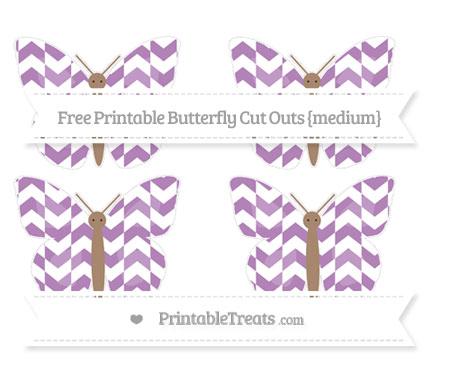 Free Pastel Light Plum Herringbone Pattern Medium Butterfly Cut Outs