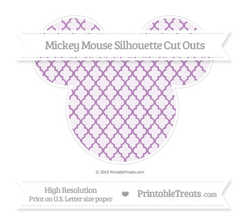 Free Pastel Light Plum Moroccan Tile Extra Large Mickey Mouse Silhouette Cut Outs