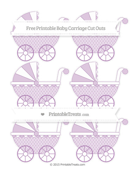 Free Pastel Light Plum Moroccan Tile Small Baby Carriage Cut Outs