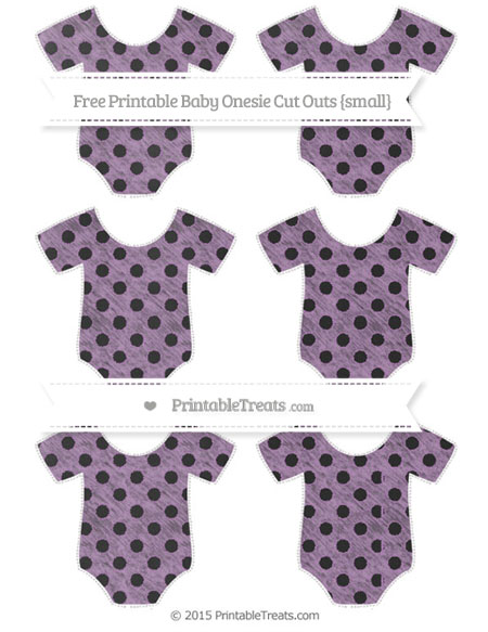 Free Pastel Light Plum Polka Dot Chalk Style Small Baby Onesie Cut Outs