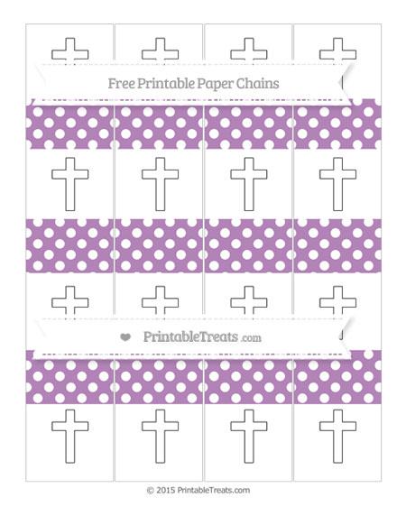 Free Pastel Light Plum Polka Dot Cross Paper Chains