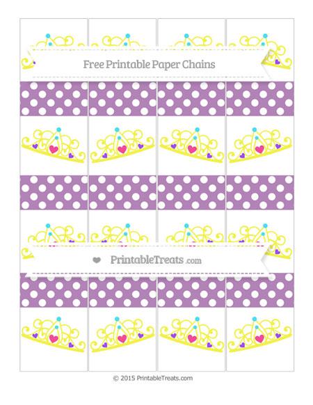 Free Pastel Light Plum Polka Dot Princess Tiara Paper Chains