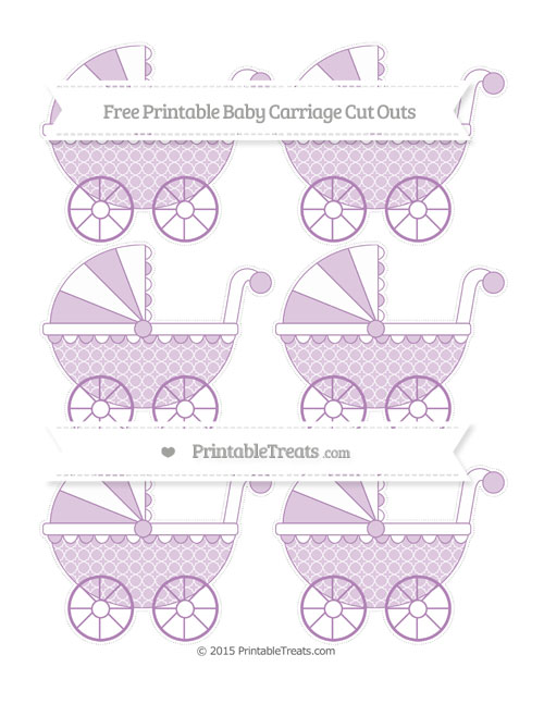 Free Pastel Light Plum Quatrefoil Pattern Small Baby Carriage Cut Outs
