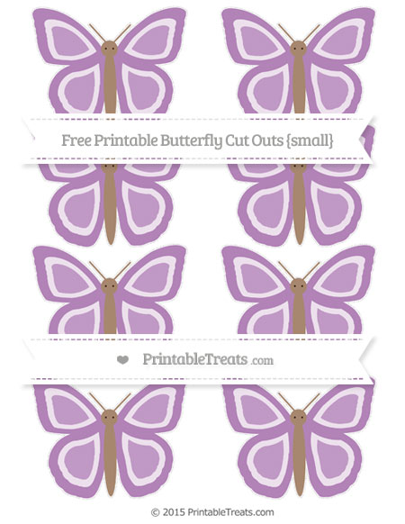 Free Pastel Light Plum Small Butterfly Cut Outs