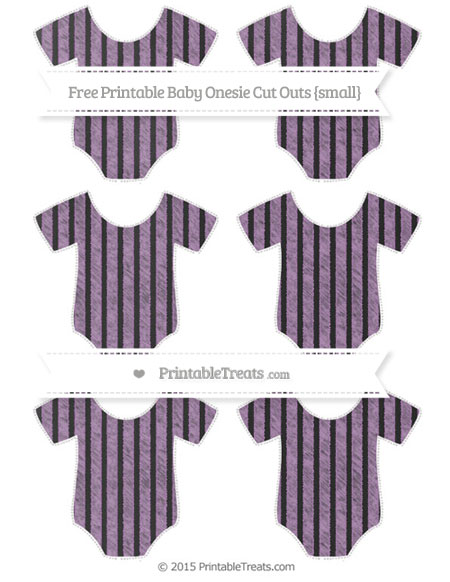 Free Pastel Light Plum Thin Striped Pattern Chalk Style Small Baby Onesie Cut Outs