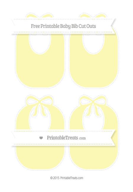 Free Pastel Light Yellow Medium Baby Bib Cut Outs