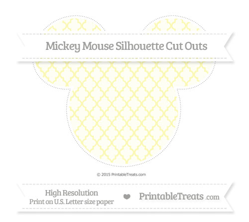 Free Pastel Light Yellow Moroccan Tile Extra Large Mickey Mouse Silhouette Cut Outs