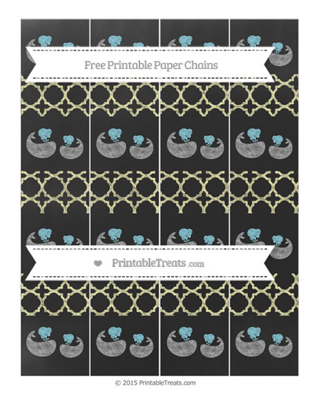 Free Pastel Light Yellow Quatrefoil Pattern Chalk Style Baby Whale Paper Chains