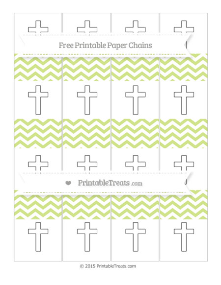 Free Pastel Lime Green Chevron Cross Paper Chains