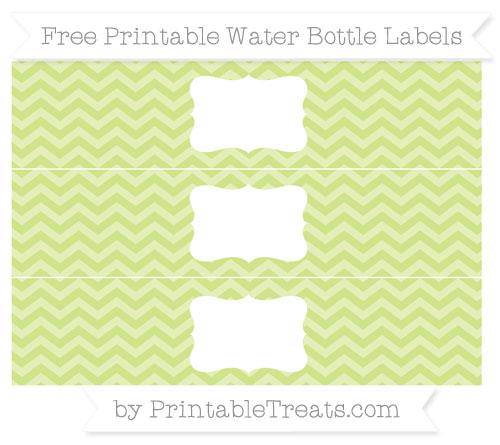 Free Pastel Lime Green Chevron Water Bottle Labels