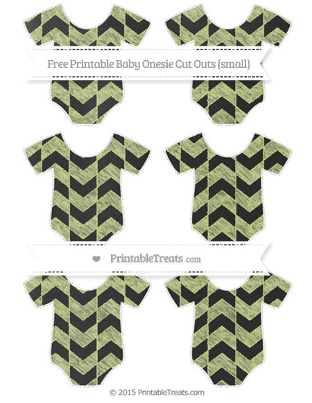 Free Pastel Lime Green Herringbone Pattern Chalk Style Small Baby Onesie Cut Outs
