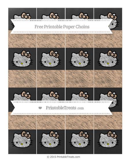 Free Pastel Orange Chalk Style Hello Kitty Paper Chains
