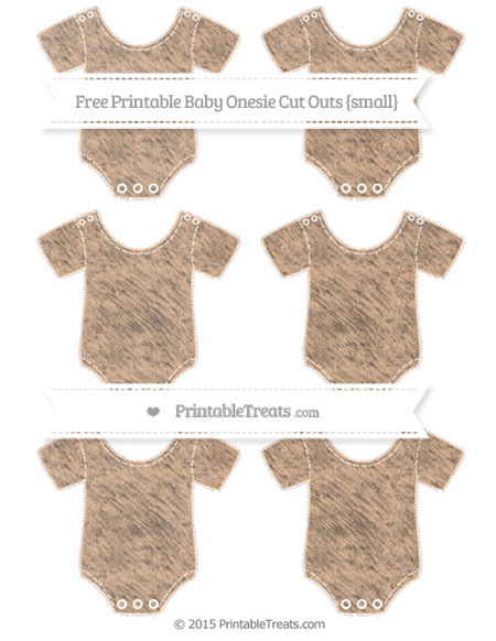 Free Pastel Orange Chalk Style Small Baby Onesie Cut Outs