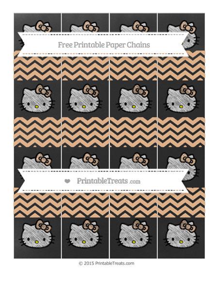 Free Pastel Orange Chevron Chalk Style Hello Kitty Paper Chains