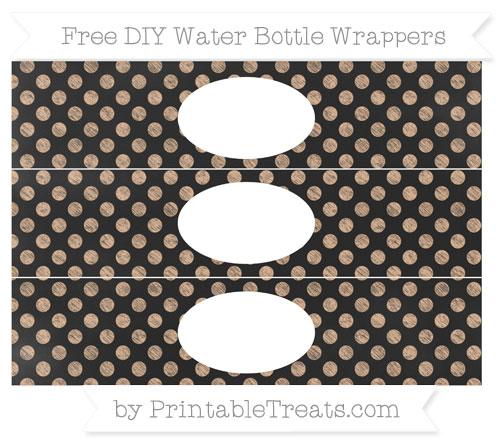 Free Pastel Orange Dotted Pattern Chalk Style DIY Water Bottle Wrappers