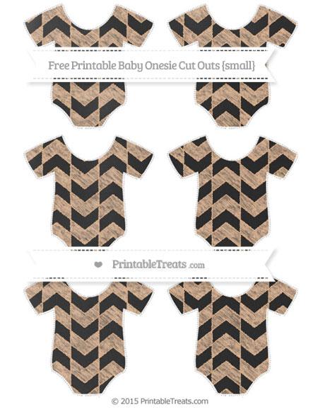Free Pastel Orange Herringbone Pattern Chalk Style Small Baby Onesie Cut Outs