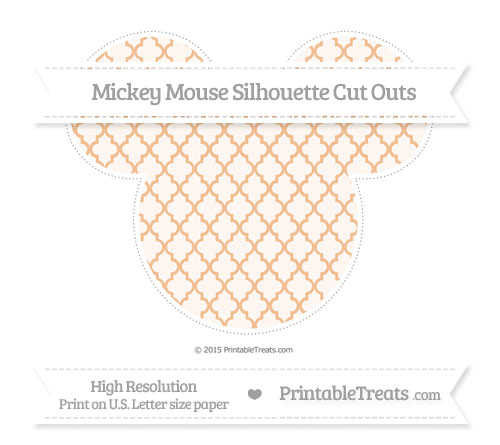 Free Pastel Orange Moroccan Tile Extra Large Mickey Mouse Silhouette Cut Outs