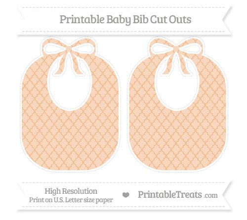 Free Pastel Orange Moroccan Tile Large Baby Bib Cut Outs