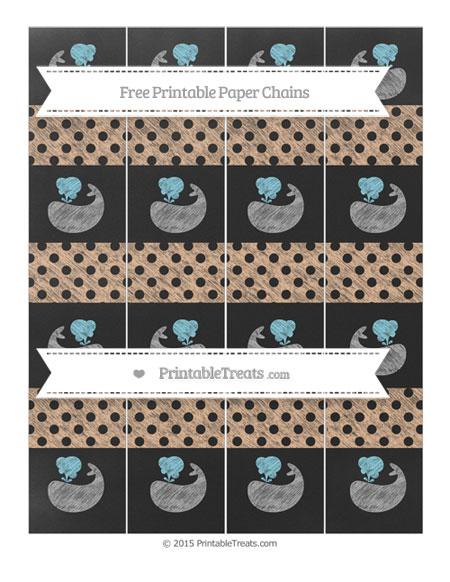 Free Pastel Orange Polka Dot Chalk Style Whale Paper Chains