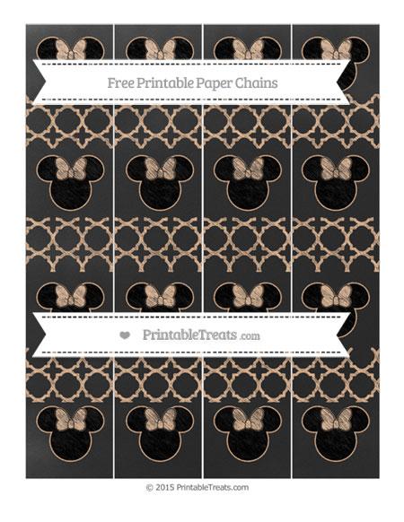 Free Pastel Orange Quatrefoil Pattern Chalk Style Minnie Mouse Paper Chains