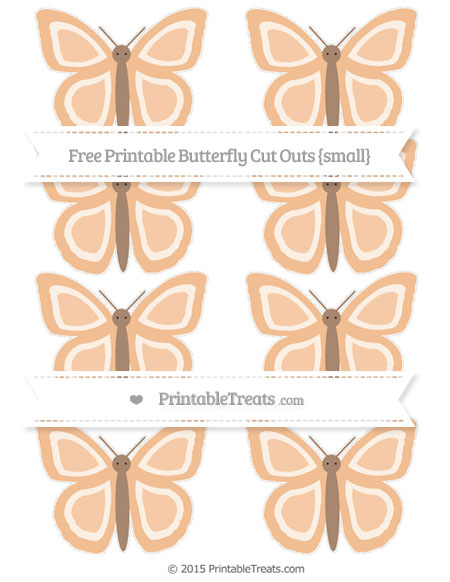 Free Pastel Orange Small Butterfly Cut Outs