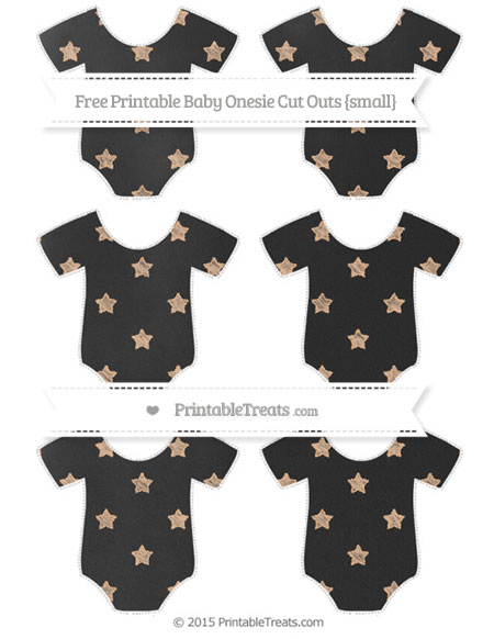 Free Pastel Orange Star Pattern Chalk Style Small Baby Onesie Cut Outs