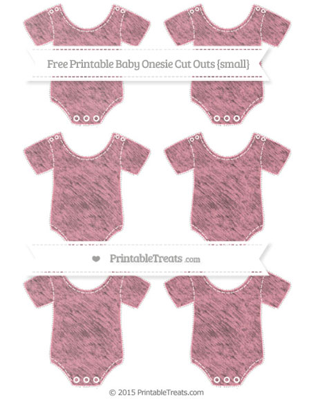 Free Pastel Pink Chalk Style Small Baby Onesie Cut Outs
