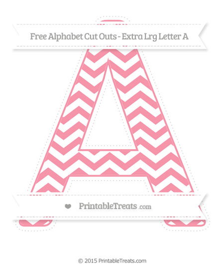 Free Pastel Pink Chevron Extra Large Capital Letter A Cut Outs