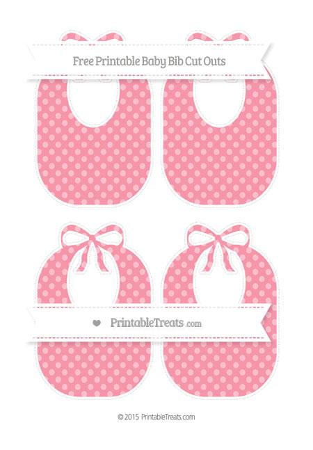 Free Pastel Pink Dotted Pattern Medium Baby Bib Cut Outs